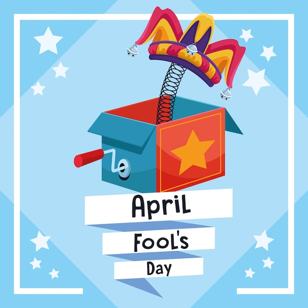 April fools day card Premium Vector