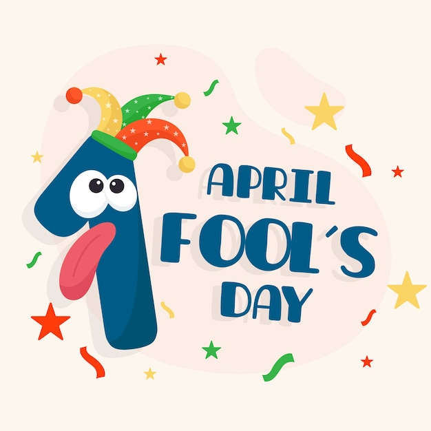 April fools day celebration Free Vector