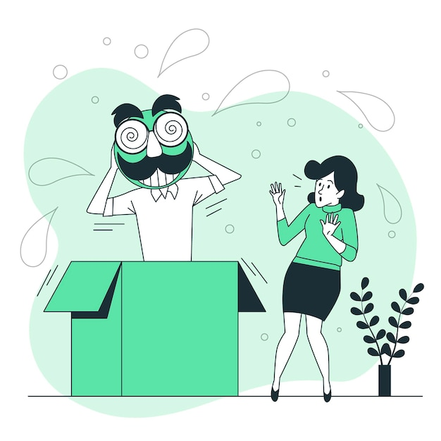 April fools' day concept illustration Free Vector
