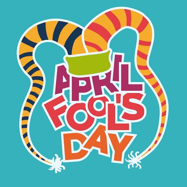 April fools day design, vector illustration. Premium Vector