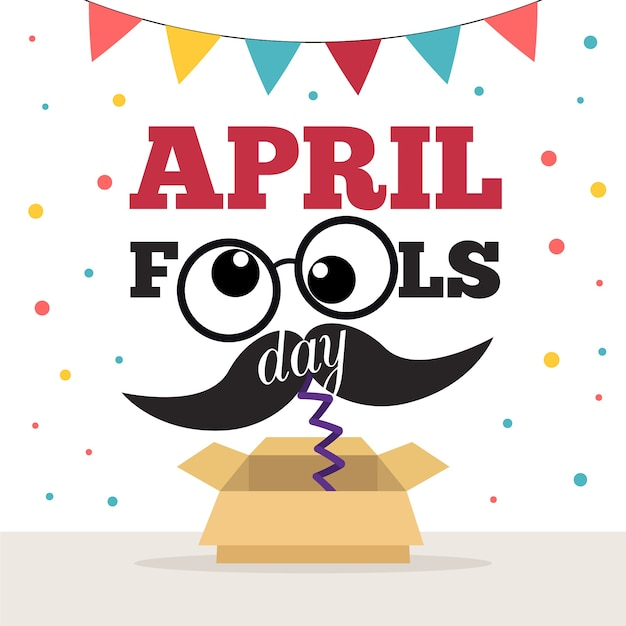 April fools day design Free Vector