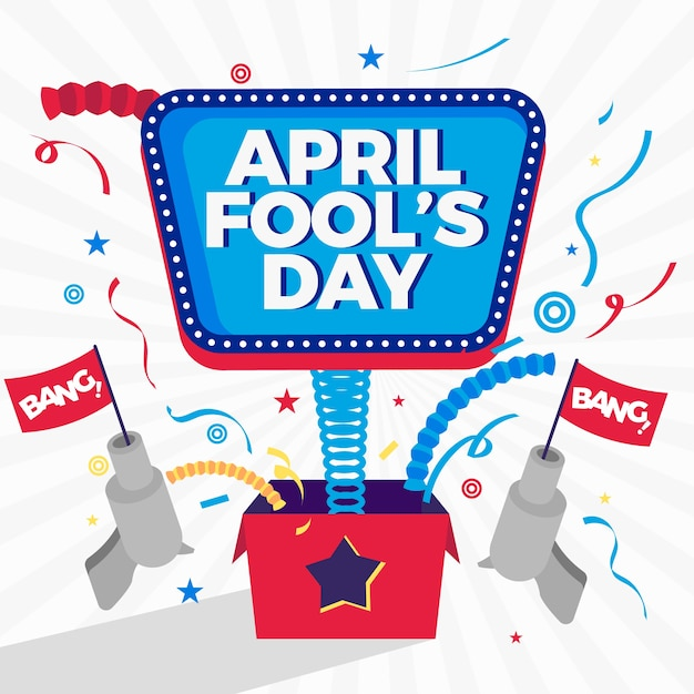 April fools day event background Free Vector