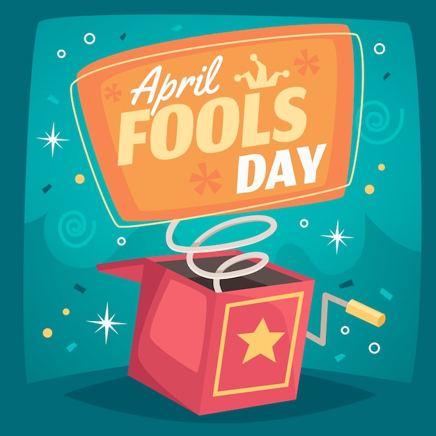April fools day event theme Free Vector