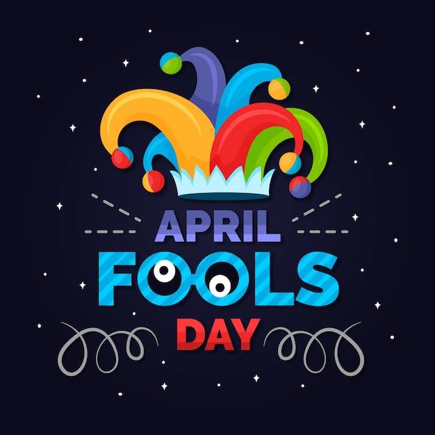 April fools day event Free Vector
