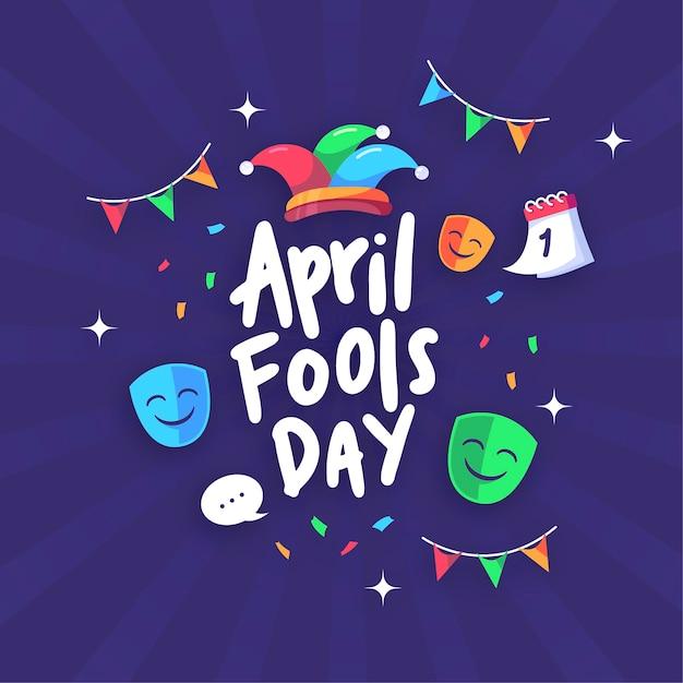 April fools day flat design Free Vector
