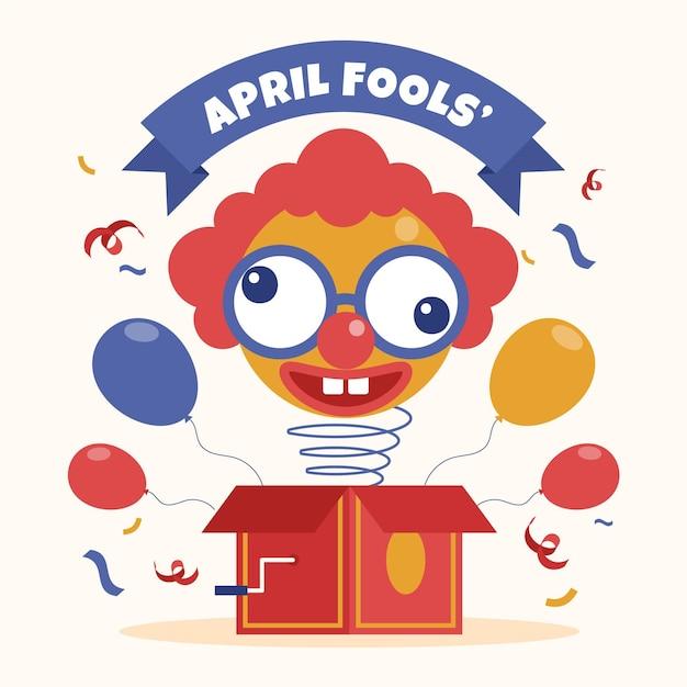 April fools' day illustration Free Vector