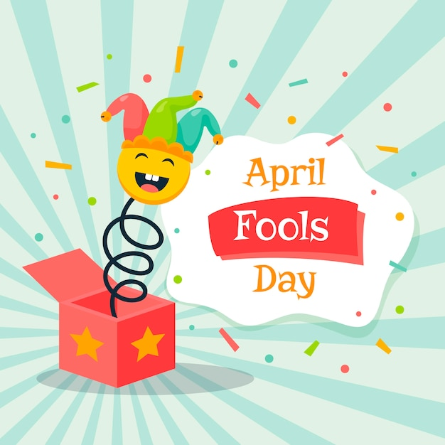 April fools day jack in the box toy Free Vector