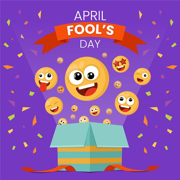 April fools day style Free Vector