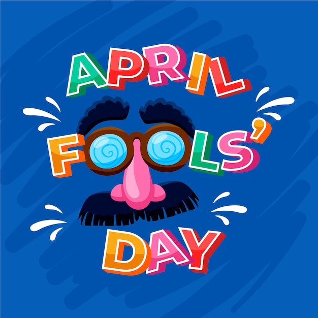 April fools day with mask Free Vector