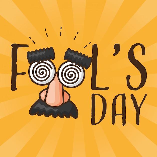 April fools day Free Vector