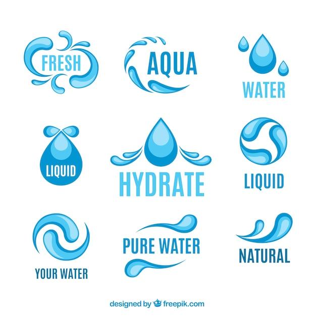 Aqua Logos Vector Free Download