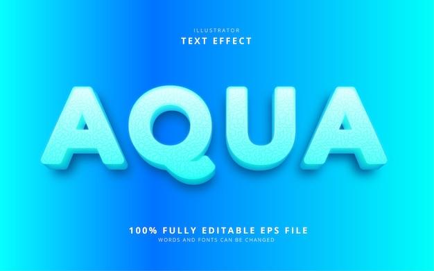 Эффект аква-текста Premium векторы