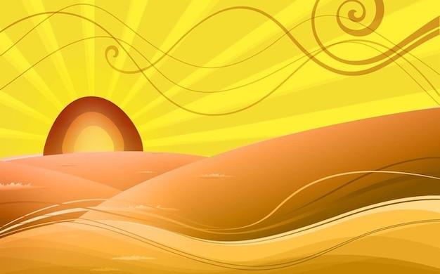 Arab Desert landscape vector art