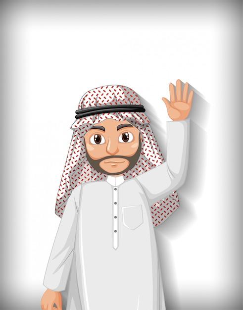 Personaggio dei cartoni animati uomo arabo Vettore gratuito