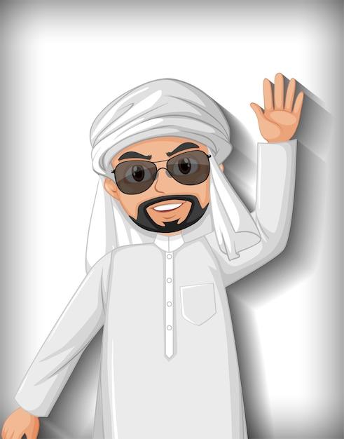アラブ人の漫画のキャラクター 無料ベクター