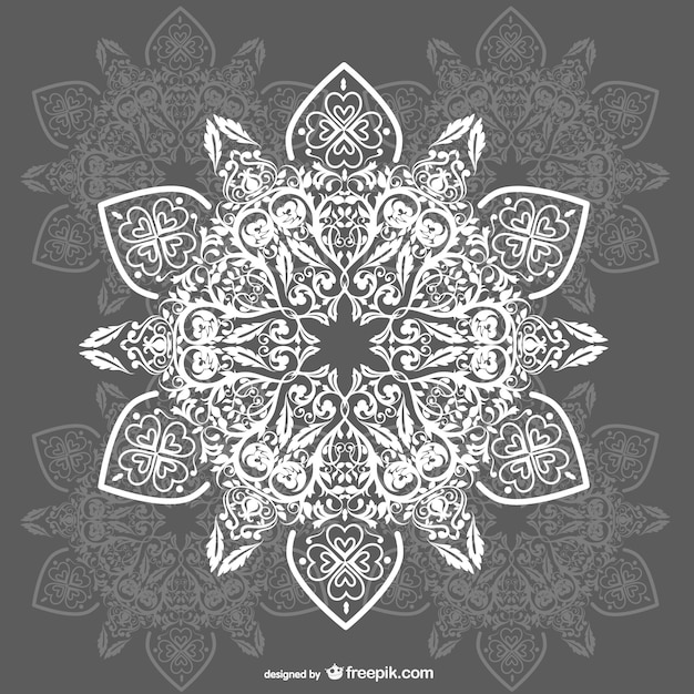 Arabesque ornaments background Free Vector