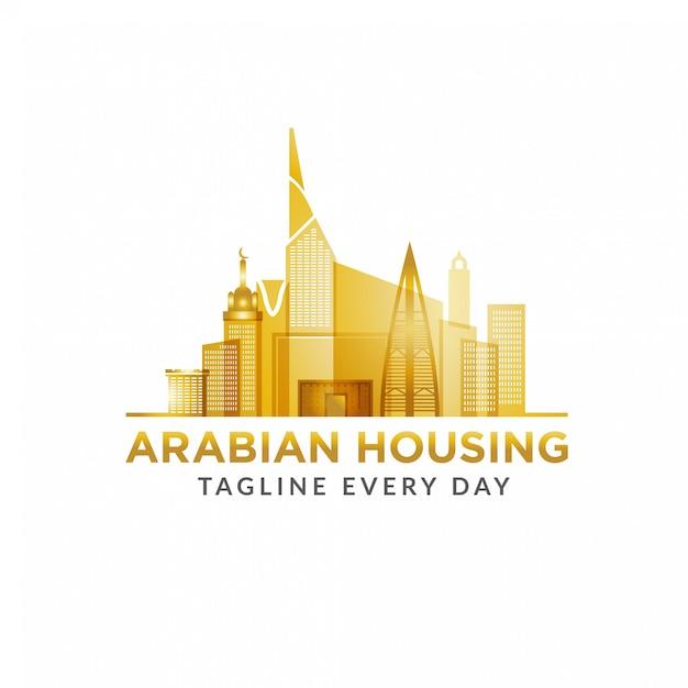 Arabian estate logo design template Premium Vector