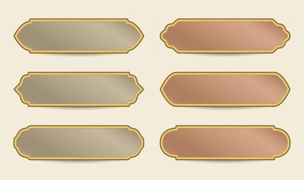 Arabic colorful banner template Premium Vector