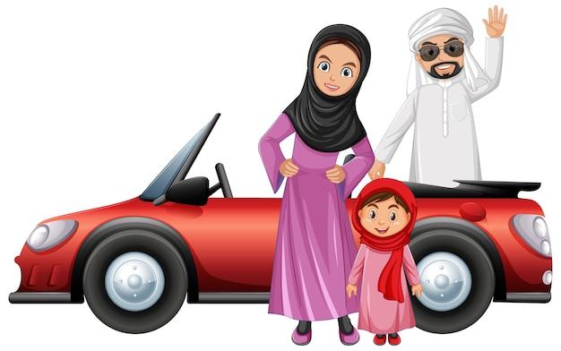 Arabic couple cartoon character Free Vector