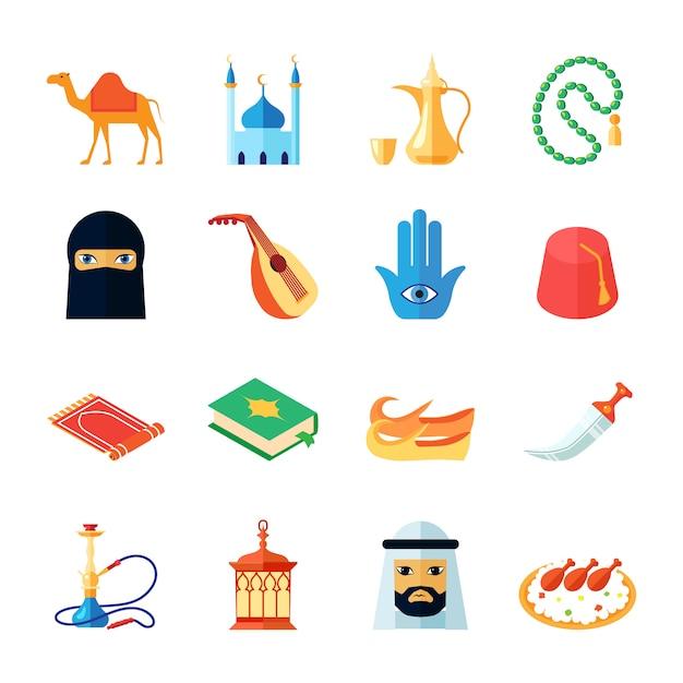 アラビア文化 無料ベクター