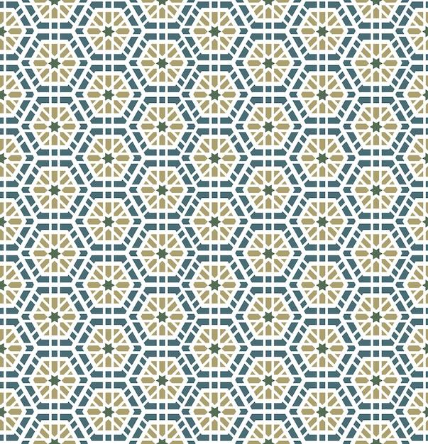 アラビア語の幾何学的なシームレスパターン 無料ベクター