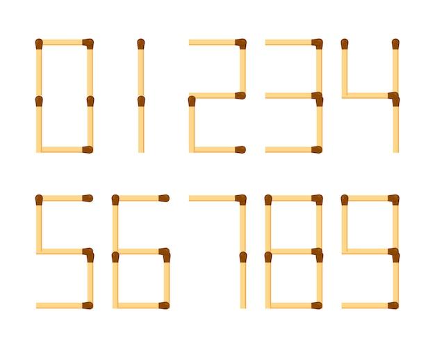 Arabic numerals mathematics numbers Premium Vector