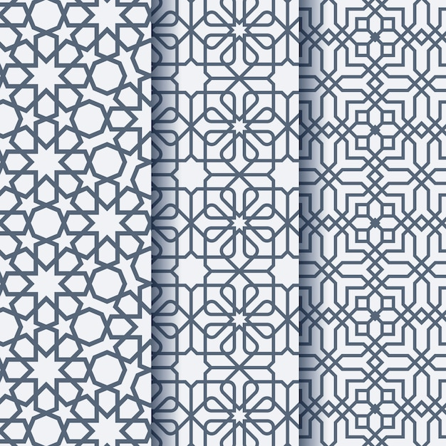 Arabic ornament geometric pattern Premium Vector