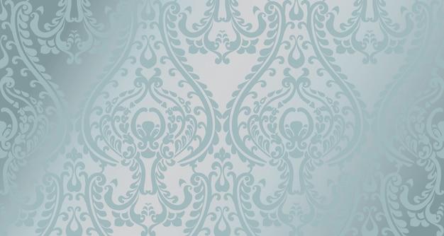 Arabic ornament pattern . blue glossy color decors Premium Vector