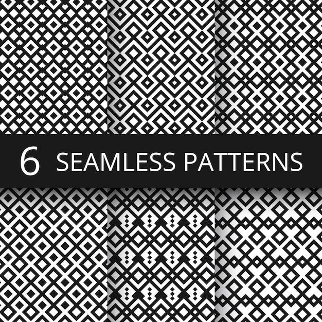 Arabic seamless ornamental vector patterns. islam architecture endless decoration Premium Vector