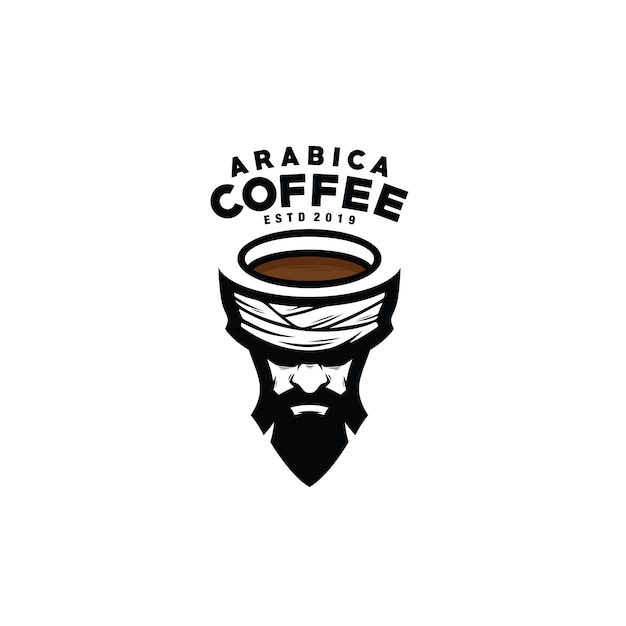 Arabica coffee logotype Premium Vector