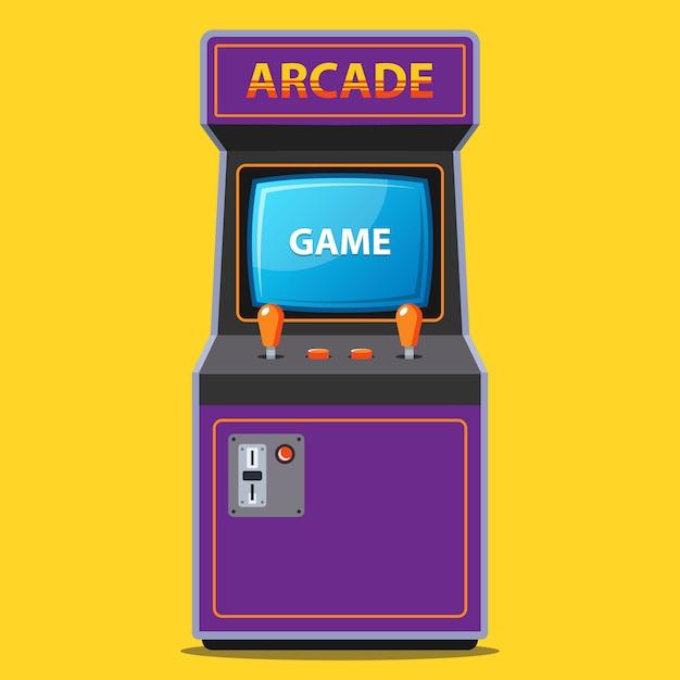 Arcade slot machine in the 80s retro style Premium Vector