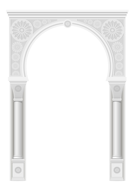 Arch in the arabic style Premium Vector
