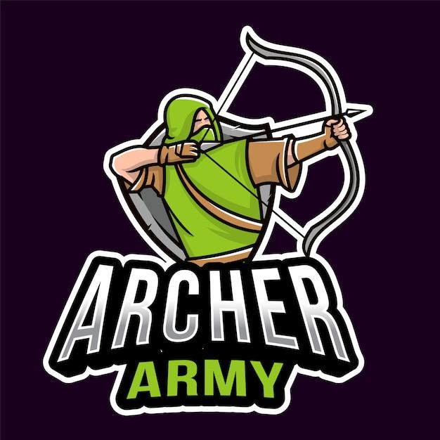Archer army esport logo Premium векторы