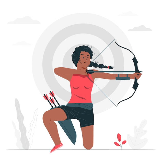Archery concept illustration Free Vector