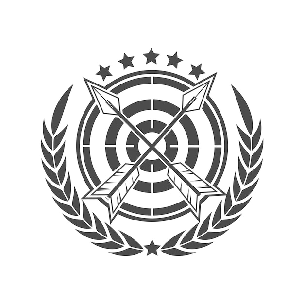 Archery nation logo design Premium Vector
