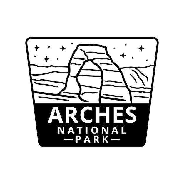 アーチーズ国立公園ステッカー Premiumベクター