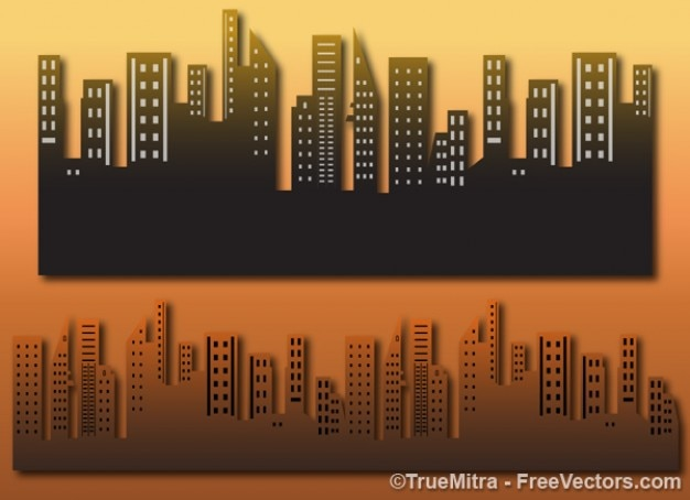 Architectural city buildings Free Vector
