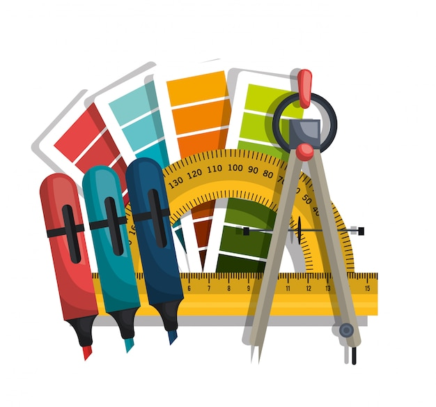 Architectural work design Premium Vector