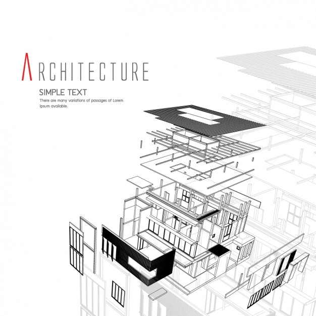Architecture background design vector free download for Architecture and design company