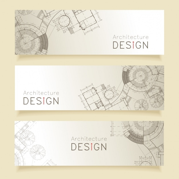 Architecture banners design
