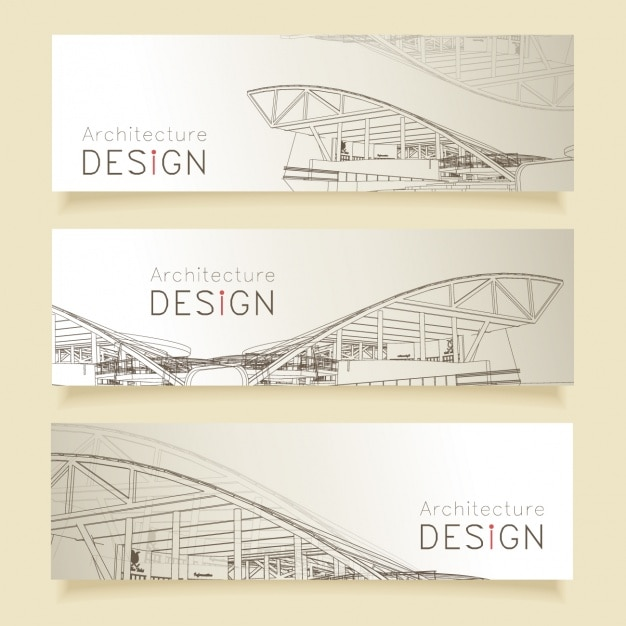 Architecture Banners Design Vector Free Download