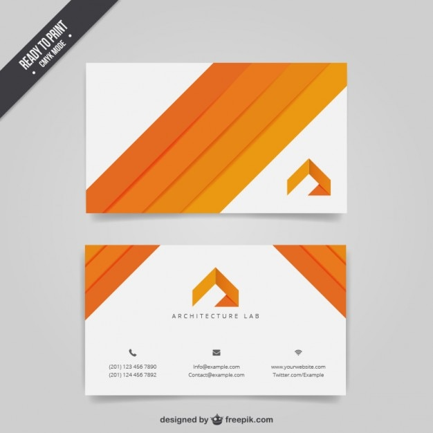 architecture business card free vector - Architect Business Card