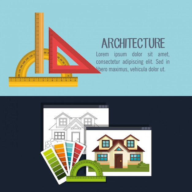 Architecture project design Free Vector