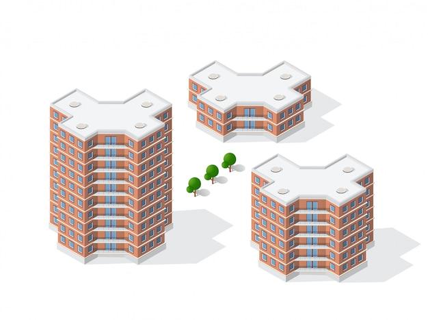 Architecture of urban construction Premium Vector