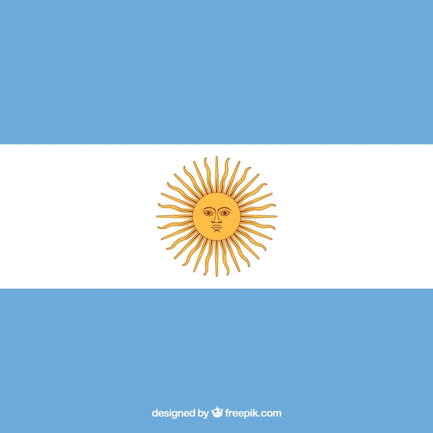 Argentina flag background Free Vector