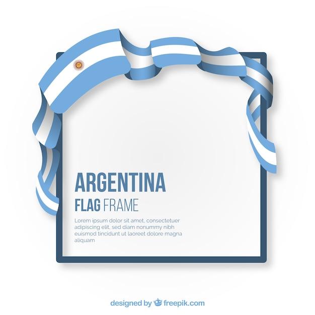 Argentina frame Free Vector