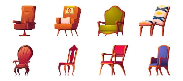 オフィスおよび家の内部のための肘掛け椅子 無料ベクター