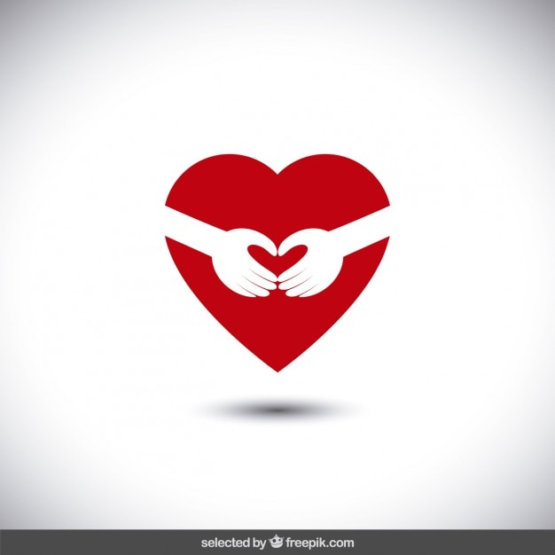 Arms hugging a heart Vector | Free Download