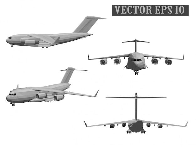 Army aircraft vector Premium Vector