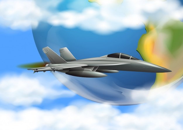Army airforce on the sky Premium Vector